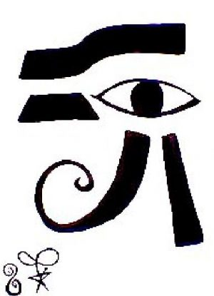 Eye of Ra Water Color Painting by Sollog