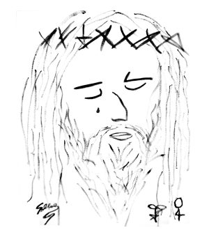 Abstract Face of Jesus by SOLLOG