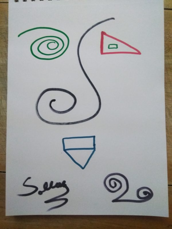 Abstract Triangle Face Colored Marker