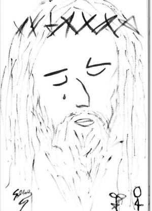 Sollog Art Abstract Jesus Portrait