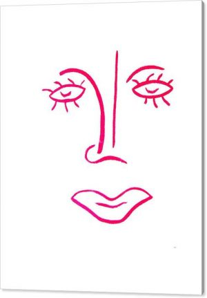 Sollog Art Abstract Face Pink Lady